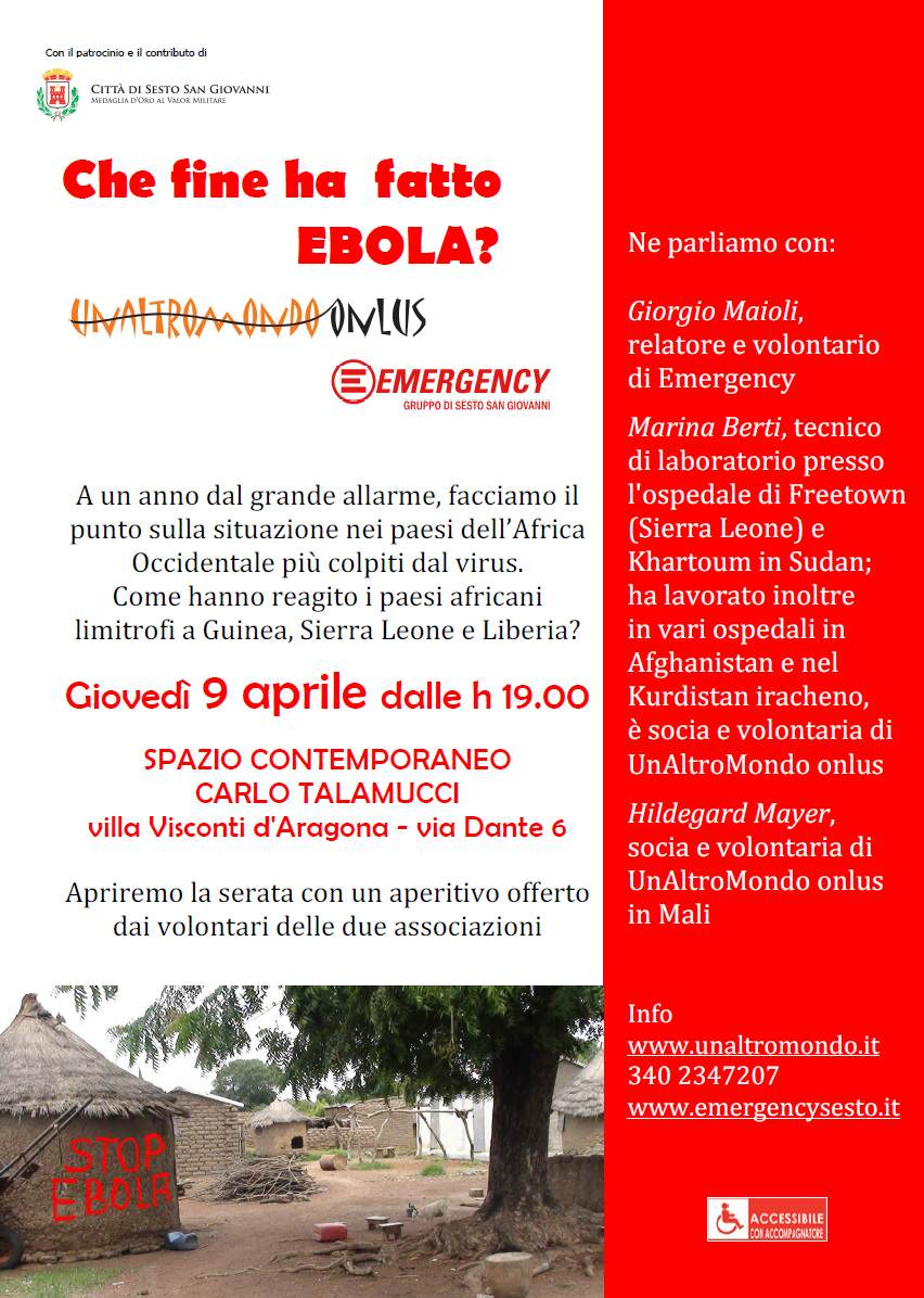 Evento ebola Sesto San Giovanni con Emergency